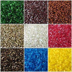 2-Cut Preciosa Czech Glass Seed Beads 9/0-10/0 2Cuts Hex 20 g 30 colors