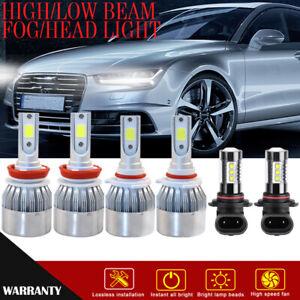 For Chevrolet Sonic 12-16 6X COB LED Fog/Driving Lights High/Low Beam Headlight