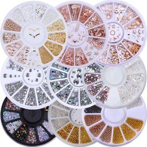 Rhinestones Flat back Gems Wheels Faceted 1mm 2mm 3mm 4mm 5mm Fast UK Delivery