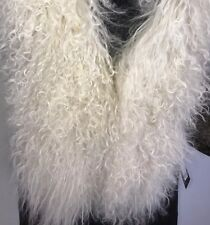 NEW with Tags Linda Richards Luxury Genuine Tibet Lamb Mongolian curly fur Vest