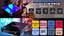Transpeed Android 10.0 TV Box Voice Assistant 8k Amlogic s905x3 1gb Ethenet