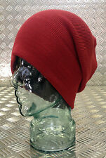 RED Tight Knit Beanie Hat / Watch Cap - One size - BRAND NEW