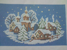 Christmas Village Is A 14 count Cross Stitch Kit With Anchor,Ariadna Threads