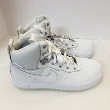 New Nike Lunar Force 1 Duck boot Triple White 882842-100 Boot 7Y