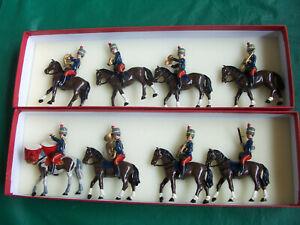 8x 54mm 1/32 metal Trophy Miniatures British Napoleonic Hussar Band Mounted
