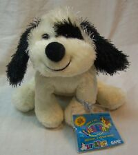 """Webkinz Lil'Kinz BLACK & WHITE CHEEKY PUPPY DOG 5"""" Stuffed Animal NEW"""