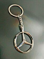 Portachiavi acciaio Mercedes Stella Amg Germany con anello slk clk classe a 1 pz