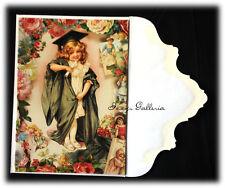 Vintage Gifted Line John Grossman 1994 Victorian Graduation Girl Roses Card