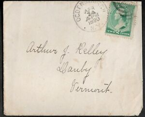 USA 1890 COVER WITH, GEORGE WASHINTON 2C STAMP,DUPLEX CANCEL RADIAN CIRCLE AT NY