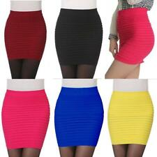 1PC Fashion Womens Skirts Elastic Pleated High Waist Package Hip Short Skirt Hot