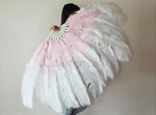 "LARGE OSTRICH FAN - WHITE Feathers 50"" x 30"" Sally Rand"