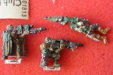 Warhammer 40k x3 francotiradores de catachan figuras de metal pintado Imperial guardias GW fuera de imprenta