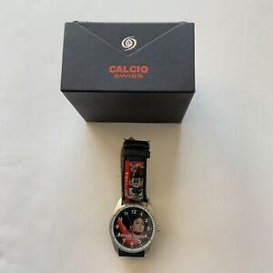New Michael Jackson Collectable Calcio Swiss Watch In Original Box