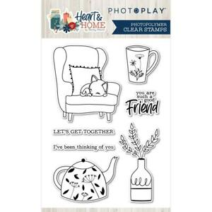 PhotoPlay Heart & Home Stamp  7pc Set