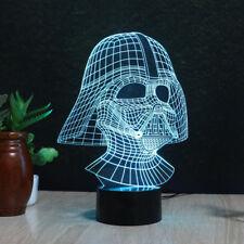 3D LED Darth Vader Star Wars Night Light Table Desk Lamp Kids Xmas Gift 7 Color