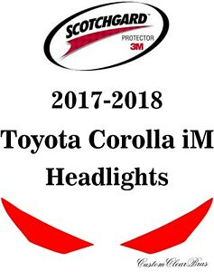 3M Scotchgard Paint Protection Film Clear Pre-Cut 2017 2018 Toyota Corolla iM