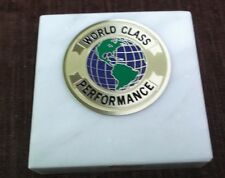world class performance paperweight marble award metal insert personalized