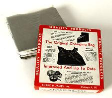 "Nib Xl Burke James #35 Changing Bag 35""x24"" Double Zipper Darkroom New"