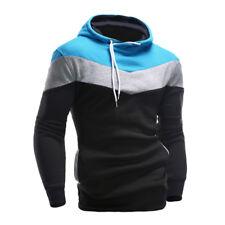Mens Camouflage Zipper Pullover Tops Coat Pockets Hooded Sweatshirt Blouse CA