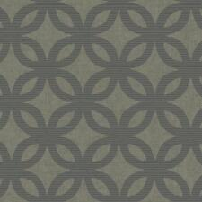Wallpaper Designer Modern Gray and Taupe Circles With Silver Accents