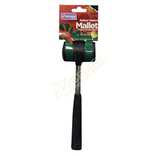 CAMPING HAMMER FOR TENT PEGS RUBBER GRIP MALLET STEEL SHAFT RACKING