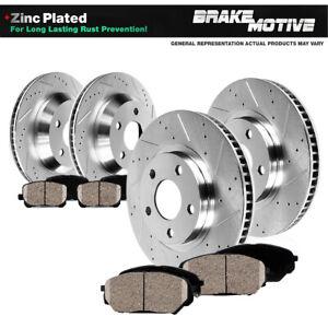 Front+Rear Drill Slot Brake Rotors Ceramic Pads For 2003 2004 2005 Infiniti G35