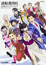 'NEW' Phoenix Wright Ace Attorney 6 Official Visual Book / Japan Game Art Book