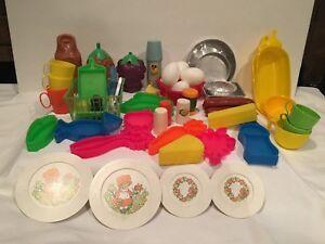 Huge Lot Vintage Children's Toys Play Food Mattel Tough Stuff Busch Gardens