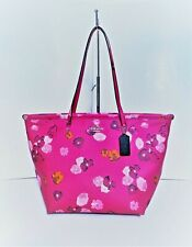 Coach NWT Pink Floral Print Tote La