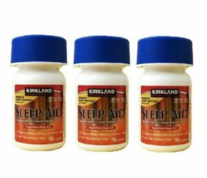 KIRK LAND Sleep Aid 3 Bottles (288 Pills) with Expiration Year 2023 by Costco