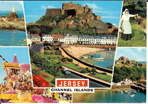 Channel Islands: Jersey, Channel Islands Multiview - Unposted c.1970's