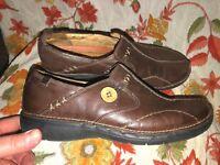 Clarks Women's Un Loop Brown Leather Shoes - 85072 ~ Size 7 M