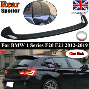 FOR BMW F20 F21 12-19 M PERFORMANCE STYLE REAR ROOF BOOT SPOILER LIP GLOSS BLACK
