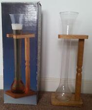 16 inch, Half Yard Beer Glass w/ Oak Rack