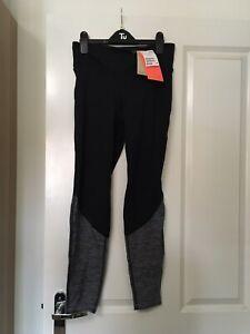 H&M Sport Dark Blue And Grey Marl Gym Leggings Size Medium BNWT