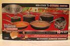 Gotham Steel Ceramic and Titanium Nonstick 10-Piece Cookware Set Frying Pan Pots