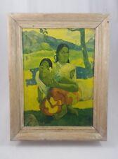 Vintage Paul Gauguin Nafea Framed Art Work (T)