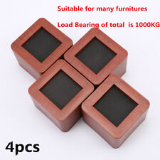 4X Furniture Bed Risers Elephant Feet Lifters for sofa, desk, chair, table