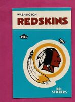 1987 WASHINGTON REDSKINS  NFL FOOTBALL STICKERS  NRMT-MT CARD (INV# A4891)