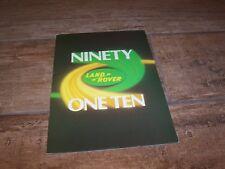 Catalogue / Brochure LAND ROVER 198? //