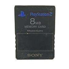 Official OEM Sony Playstation 2  PS2 8MB Magicgate Memory Card SCPH-1020 Black