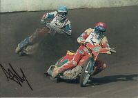 ANDREW TULLY HAND SIGNED 7X5 PHOTO - SCUNTHORPE SPEEDWAY AUTOGRAPH.