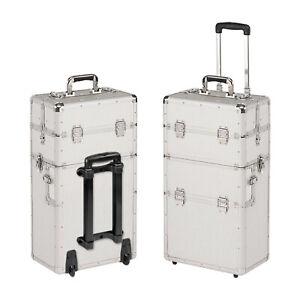 Visagistenkoffer Trolley Reisekoffer Pilotenkoffer Aluminiumkoffer Silber B-Ware