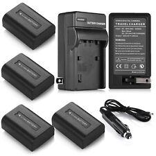 NP-FH50 Battery + Charger For Sony DSC-HX1 HX200V HX100V Alpha A330 A230 A390