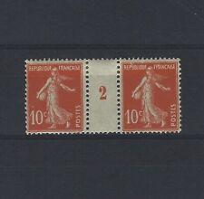 France Yvert n° 138 Paire millésime 2 neuf avec charnière
