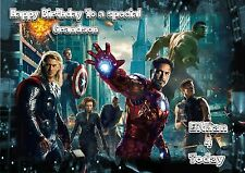 Personalised birthday card Marvels avengers large A5 size son grandson
