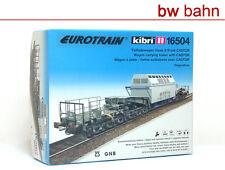 Kibri H0 16502 56502 Bausatz MAN Schienentiefladewagen Uaai 687.9 Neu