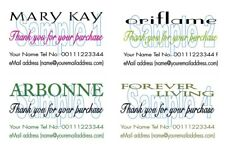 Merci de cartes 50 Mary Kay Oriflame Arbonne Forever Living cartes impression