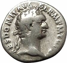 DOMITIAN son of Vespasian Silver Ancient Roman Coin Athena Minerva Cult i53288