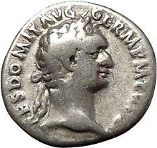 DOMITIAN son of Vespasian Silver Ancient Roman Coin Athena Minerva Cult i53288